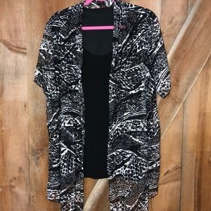 Laura top with attached cardigan size 3X